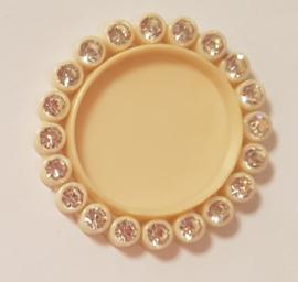 Cirkel 3cm met strass - per stuk - Zand