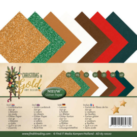 ADA510020 Karton A5 - Christmas Gold - Amy Design