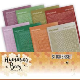 Stickerset bij Creative Hobbydots 10015 - Humming Bees - Jeanines Art