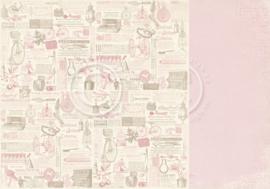 PD32010 Scrappapier Dubbelzijdig - Cherry Blossom Lane - Pion Design