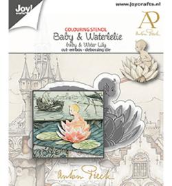 6002-1611 - Anton Pieck - Baby & Waterlelie - Joy Crafts