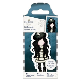 GOR907148 Mini rubber stempel nr.49 Piracy - Gorjuss
