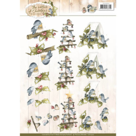 CD10902 Knipvel A4 - The Nature Christmas - Marieke Design