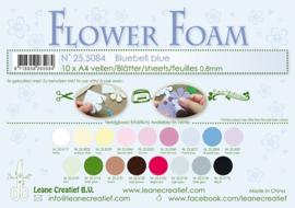 25.5084 Flower foam sheets A4 0.8mm. Bluebell blue - per stuk