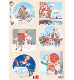 EWK1281 Knipvel A4 - Sinterklaas - Els Wezenbeek