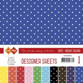 CDDSMP001 Paperpad 50 stuks - Stip - Card Deco