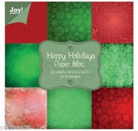 6011/0026 Paperpad 15x15cm a 36 vel - Joy Crafts
