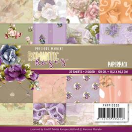 PMPP10030 Paperpad - Romantic Roses - Marieke Design