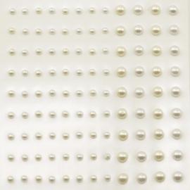 Plakparels 3 en 5mm - Wit en Ivoor - 108stuks - Vaessen