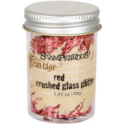 Frantage Red Crushed Glass Glitter - Stampendous