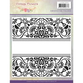 JAEMB10005 Embosmal - Vintage Flowers - Jenine's Art
