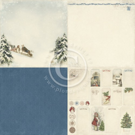 PD3901 Scrappapier - Wintertime in Swedish Lapland - Pion