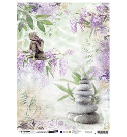 RICESJMA28 Rice Paper A4 - Jenine's Mindful Art Time to Relax - Studio Light