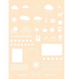 6002-0861 Polybesa stencil - Joy Crafts