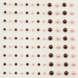 Plakparels 3 en 5mm - Bordeaux en zachtroze - 108stuks - Vaessen