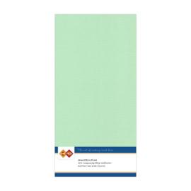 20 Midden Groen - Linnen Kaarten 4 kant 13.5x27cm - 10 stuks - 200 grams - Card Deco