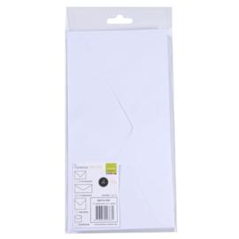 Enveloppen 5pcs wit 22,5x11,5cm - Florence