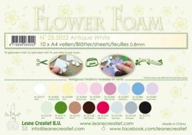 25.5022 Flower foam sheets A4 0.8mm. Antique white - per stuk