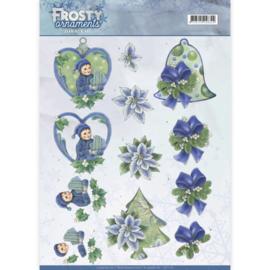 CD11129 Knipvel A4 - Frosty Ornaments - Jenine's Art
