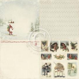 PD3906 Scrappapier - Wintertime in Swedish Lapland - Pion