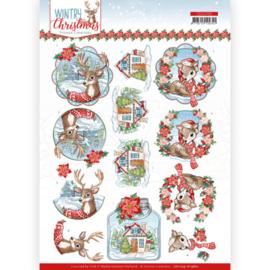 CD11709 3D vel A4 - Wintery Christmas - Yvonne Design