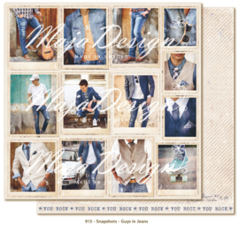 915 Scrappapier dubbelzijdig - Denim and Friends - Maja Design