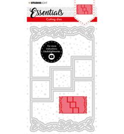 SL-ES-CD72 - SL Cutting Die Christmas Card shape mini holly Essentials nr.72