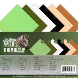 AD4k10019 Karton 13.5 x 27cm - Wild Animals - Amy Design