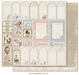 750 Scrappapier dubbelzijdig - Vintage Baby - Maja Design