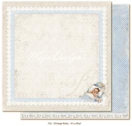 732 Scrappapier dubbelzijdig - Vintage Baby - Maja Design