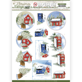 SB10592 Stansvel A4 - Christmas Cottage- Jeanine's Art
