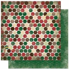 12FD951 Scrappapier dubbelzijdig - Father Christmas - Bo Bunny