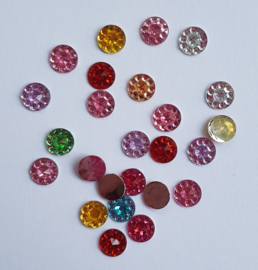 Strass rondjes dotted 6mm - MIX - 25 stuks