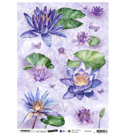RICESJMA33 Rice Paper A4 - Jenine's Mindful Art Time to Relax - Studio Light