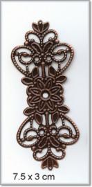 Decorations 012 - 5 stuks - Koper