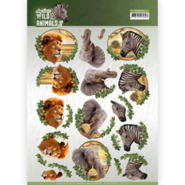 CD11301 3D knipvel A4 - Wild Animals - Amy Design