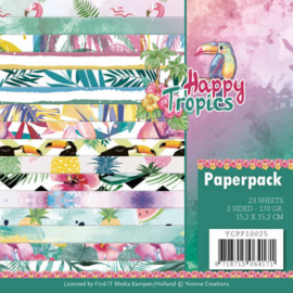YCPP10025 Paperpad - Happy Tropical - Yvonne Creations
