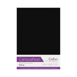 Black - Glanskarton A4 310 grams - 10 vel - Centura Pearl