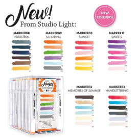 Actie Markersets 08 t/m 13 - Water Based Dual Tip - Studio Light