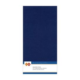 30 Donkerblauw - Linnen Kaarten 4 kant 13.5x27cm - 10 stuks - 200 grams - Card Deco