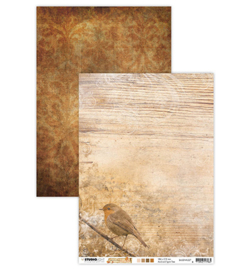 BASISWA327 Achtergrondpapier A4 dubbelzijdig  - Wonderful Autumn - Studio Light