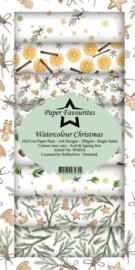 PFS024 Dixi Slimline PaperPack 10x21 cm Watercolour Christmas