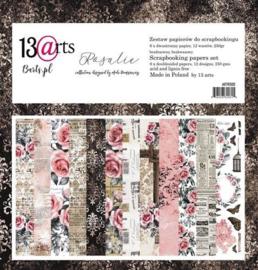 Paperpad 30,5 x 30,5 cm - 12 vel - Rosalie - 13@arts - PAKKETPOST!