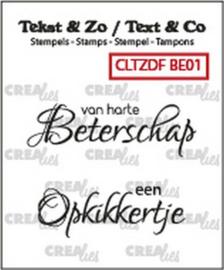 CLTZDFB01 Clearstempel - Beterschap - Crealies