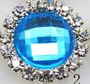 Rhinestone met Strass Facet 15mm - Licht Blauw (2)- per stuk