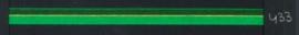 9mm lint Organza/Satijn - Groen - 1 meter
