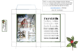 JDN165 Vintage vel A4 Natuur Kerstdoosje - Jellie Design