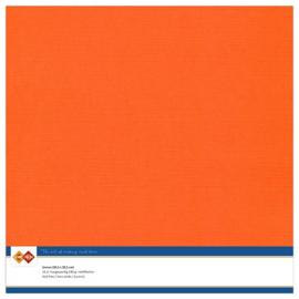11 Oranje - Linnen Karton 30,5 x 30,5cm - 10 stuks - 200 grams - Card Deco - PAKKETPOST!!