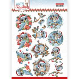 CD11710 3D vel A4 - Wintery Christmas - Yvonne Design