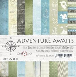 Paperpad 15,2 x 15,2 cm - Adventurs Await - Craft-O-Clock